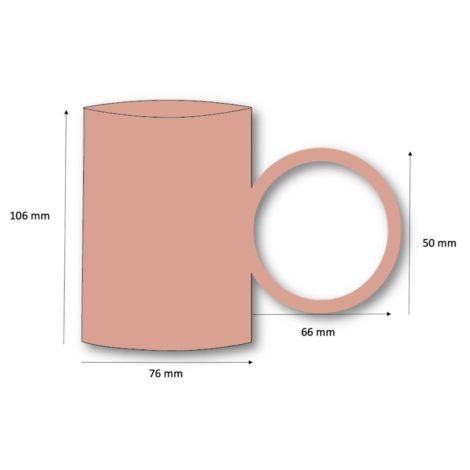 Mug labr en céramique pour fleurs de thé