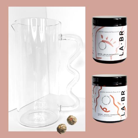 Carafe à fleurs de thé labr