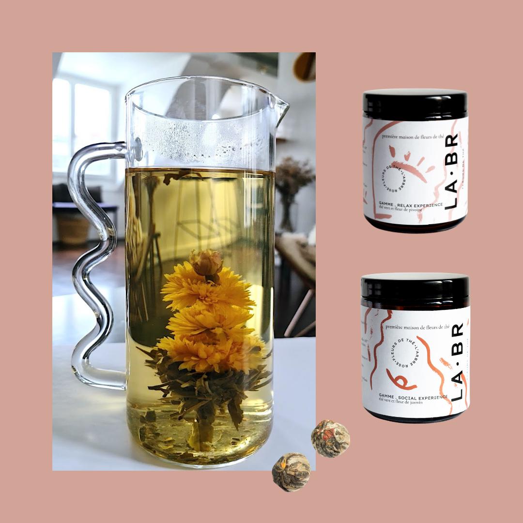 Découvrez notre carafe à fleurs de thé par labr