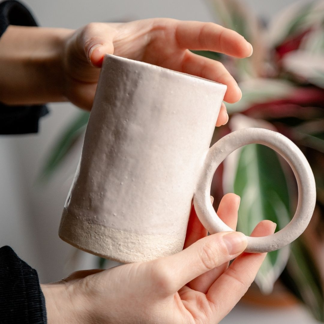 mug céramique fleur de thé