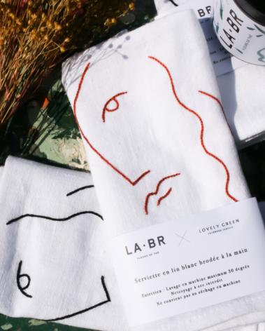labr paris serviette lin 6. LABR Paris première maison de fleur de thé
